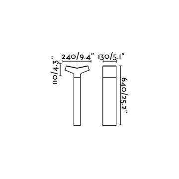 TAU BALISE GRIS FONCE 1XE27 20W H64