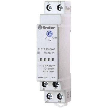 Interrupteur crepusculaire 1no 16a 110 a 230 vac faible largeur : 17,5mm