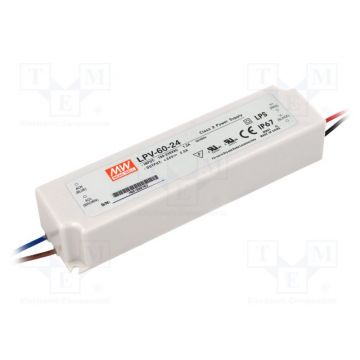 Alimentation LED Meanwell 60W 24v IP65