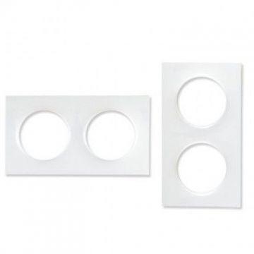 SCHNEIDER Odace Styl Plaque double blanc