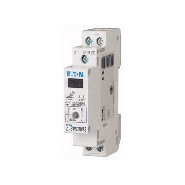 Interrupteur avec voyant z-swl230/SS 2 contacts 230 VAC/courant continu