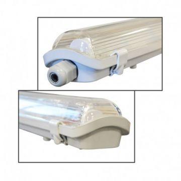 BOITIER ETANCHE TUBE LED 1500 x1 VISION-EL 10 PHASE NEUTRE MEME COTE