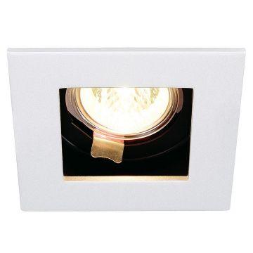 INDI REC 1S, encastré, carré, blanc, MR16, max. 50W, orientable