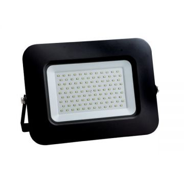 LED SMD FLOODLIGHT BLACK 100W AC170-265V 150° IP65 4500K 70CM CABLE