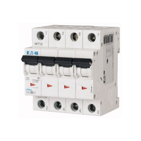 Disjoncteur modulaire, 16A, 4p, courbe C, 6kA