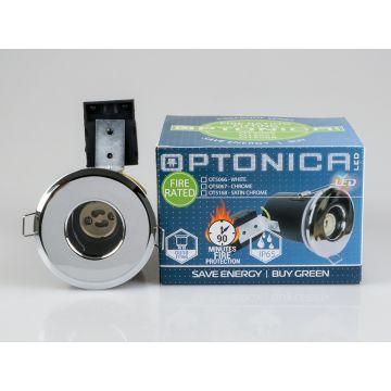 OT5067 FIRE RATED FIXED LED DOWNLIGHT GU10 IP65 GU10 CHROME