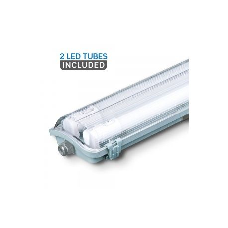 VT-15022 2x22W LED WP LAMP FITTING 150CMX2 COLORCODE:4000K IP65