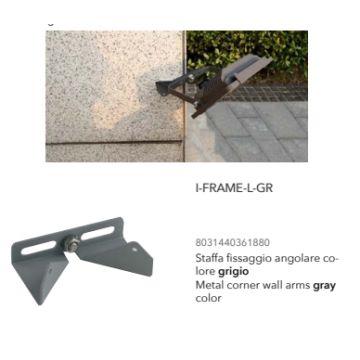 Support Projecteur d'angle Gris