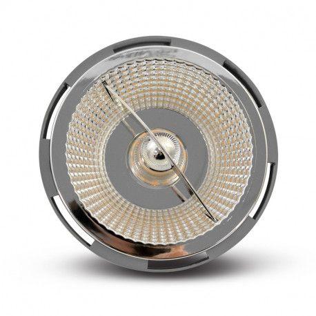 LED AR 111 G53 SILVER 12V AC/DC 15 WATT 4000°K BOITE
