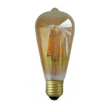 E27 8W ST64 à filament 3000K finition golden