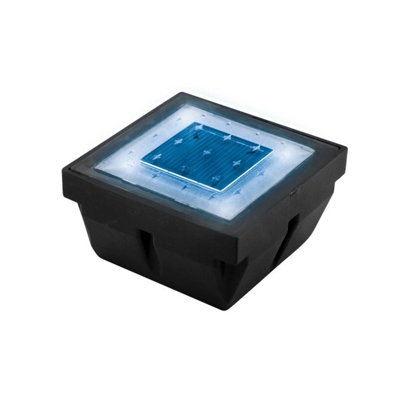 eclairage led solaire Pavé LED solaire encastrable éclairage bleu ...