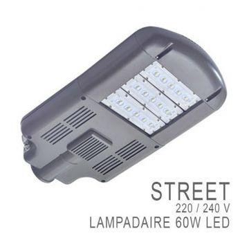 TETE DE LAMPADAIRES ROUTIER ALU 60 WATT IP 67