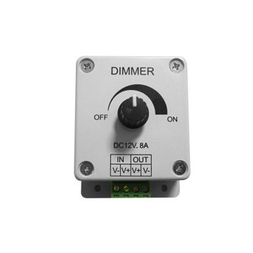 DEC/DIM-12V VARIATEUR LED ELECTRONIQUE DC 12V~24V - 96W~192W (guirlande blanc et blanc chaud) - Lumihome
