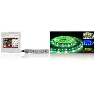 BANDE LED COULEURS+BLANC 5 M 60 LEDS 14,4 W / M IP67 SILICON