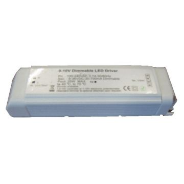Dimmable driver 1-10V variation exclusively 25W max